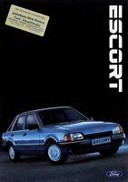 0259FO Ford Escort Prospekt 1986 6/86 Autoprospekt brochure prospectus Auto