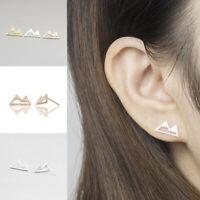 Triangle Earrings Snow Mountain Peak Women Girl Jewelry Ear Stud Simple
