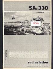 SUD AVIATION SA 330 PUMA HELICOPTER USED IN OFF SHORE OIL OPERATIONS 1966 AD
