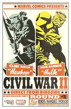 Civil War 2  #4  Michael Cho Variant Cover  LITHO / PRINT