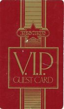 """RESORTS Early """"VIP GUEST CARD"""" RED Atlantic City Casino"""