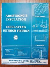 1940 ARMSTRONG Cork Co INSULATION Interior Finishes ASBESTOS Product VTG Catalog