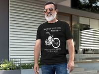 BRAVE MEN DONT LIVE FOREVER Mens Funny Biker T-Shirt Motorbike Motorycle Bike
