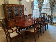 6-8 Seater Mahogany Dining Table With Leaf And Inside Storage