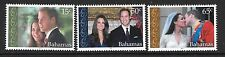 BAHAMAS SG1584/6 2011 ROYAL WEDDING   MNH