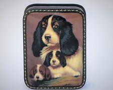 Boîte bijoux collection animaux chien 10x7 miniature FEDOSKINO peint main signé
