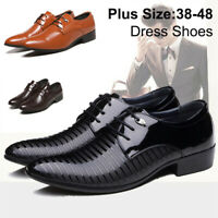 New Men's Business Dress Formal Leather Shoes Flat Oxfords Loafers Lace Up Shoes