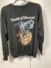 Smith & Wesson 3D Emblem Sweatshirt Shirt Long Sleeve Made in USA LARGE Vintage