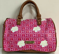NEW TOMMY HILFIGER PINK FLORAL DOCTOR BOWLER SATCHEL TOTE PURSE HANDBAG $85 SALE