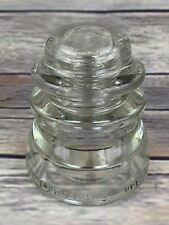 Vintage Glass Telephone Pole Insulators Clear Armstrong's DPI 55 54...