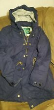 440$ SCOTCH & SODA Men's Navy Blue     Classic Super Parka Jacket Coat Sz.S