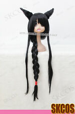 League of Legends Ahri Cosplay wig costume Black Colour pre style + Cat ear