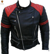 Lionstar Retro Vintage Motorbike Motorcycle Real Leather Biker Style Jacket