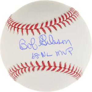 Bob Gibson Cardinals Signed Baseball with 68 NL MVP Insc - Fanatics