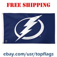Deluxe Tampa Bay Lightning Logo Flag Banner 3x5 ft 2019 NHL Hockey Fan Gift NEW