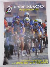 Double Sided Colnago Poster 33x47cm ORIGINAL Colnago C40 Frames NOS