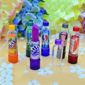 6 Pieces Color Changing Lip Balm Lipstick Fanta Coke Pepsi Sprite Bottle Shape