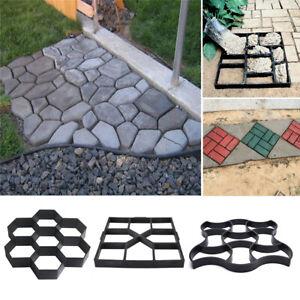 Large Garden Paving Pavement Mold Patio Concrete Stone Path Walk Maker Mould DIY