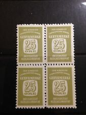 Greenland Mnh 1955 Special Fee Stamp Block of 4