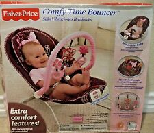 FISHER PRICE COMFY TIME BOUNCER BUTTERFLY MOCHA W/ VIB T2520 *NEW*