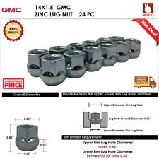 GMC 24PC 14X1.5 CHROME OPEN END WHEEL LUG NUT BULGE ACORN SEAT