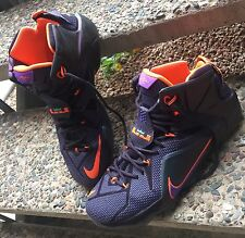 Nike LeBron 12 XII Instinct Cave Purple/Hyper Grape-Crimson - Men's SZ 12