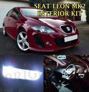 Fits SEAT LEON MK2 FR INTERIOR BRIGHT XENON WHITE LED FULL ERROR FREE LIGHT SET