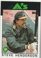 FREE SHIPPING-MINT-1986 Topps #748 Steve Henderson Athletics PLUS BONUS CARDS