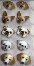 Dog Face Dec-ons Edible Sugar Decorations For Cupcakes, Candy & Cake