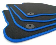 NEU Fußmatten VW Passat B6 B7 R36 Variant 3C Velour Autoteppich, blauer Rand
