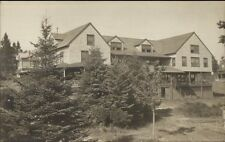 Boothbay ME Hotel Murray Hill c1910 Real Photo Postcard