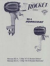 Vintage MERCURY  Models: KE-4 & KG-4, 7.5Hp,  '47-'54, Outboard Service Manual