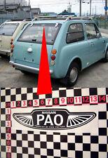 Nissan Pao Heckfenster Aufkleber
