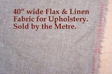 """One metre of Flax & Linen, Upholstery Fabric. 40"""" wide. (sold by the Metre.)"""