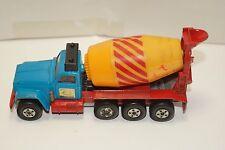 ORIGINAL Matchbox - Super Kings - K-6 - Cement Mixer - Red - Blue - Yellow
