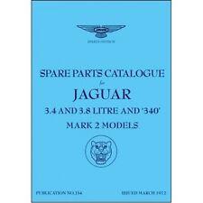 Jaguar Mk 2 (3.4, 3.8 & 340) Spare Parts Catalogue (1959-1969) book paper