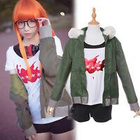Persona 5 Futaba Sakura Outfit Jacket Top Pants Full Set Uniform Cosplay Costume