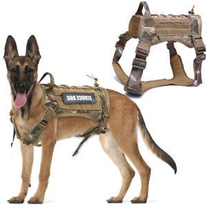 Tactical Dog Harness German Shepherd Pet Dog Harness Vest Nylon Bungee Dog Leash