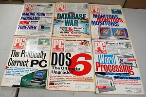 Rare PC Magazine 6 Issues 1993 Ships Worldwide