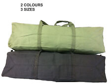 "Heavy Duty Canvas Tool Carry Bag Travel Luggage Duffel Duffle Tote Zip Biker Black Small ( 46 X 18 X 16cm ) 18"""