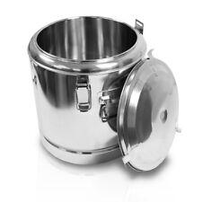 12 Liter Edelstahl Thermobehälter Speisen Warmhaltebehälter Isolierung 30x30 cm