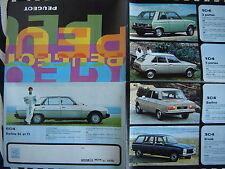 brochure PEUGEOT 604 + 304 + 104 + 504 + Coupé + Cabrio 1979  français couleurs