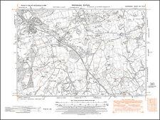 Pontyclun, Miskin, Gros-faen, old map Glamorgan 1948: 42NW repro Wales