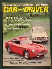 CAR and DRIVER Magazine September 1962 Alfa Romeo Aston Martin Spyder