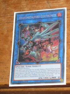 YuGiOh Card - Heavymetalfoes Electrumite MP18-EN229 1st Ed. Secret Rare [Signed]