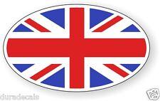 British Flag Oval Vinyl Decal | Sticker Bumper Euro UK United Kingdom Britain