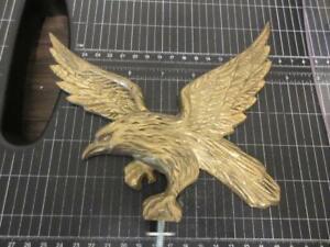 Vintage Brass Eagle Topper Ornament Flag Pole Car Hood