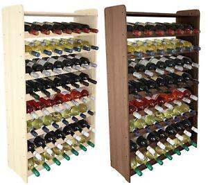 Weinregal Flaschenregal Weinschrank  für 56+ Flaschen 118 cm RW-3-56 / 2 FARBEN