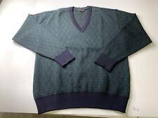 Paul & Shark Yachting Men's Argyle Wool V Neck Sweater Size Large