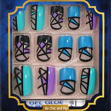 KISS GOLDFINGER Glue-on Fashion Nail 24 Nails Kit GF96